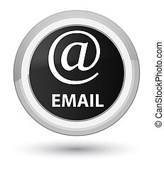 Email (address icon) prime black round button