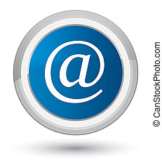 Email address icon prime blue round button