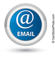Email (address icon) prime blue round button