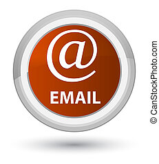 Email (address icon) prime brown round button
