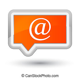 Email address icon prime orange banner button