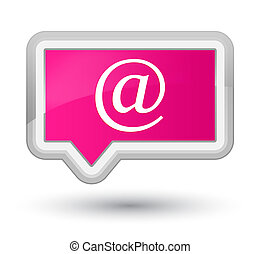 Email address icon prime pink banner button