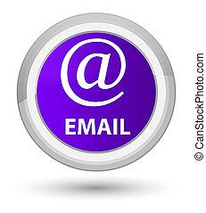 Email (address icon) prime purple round button