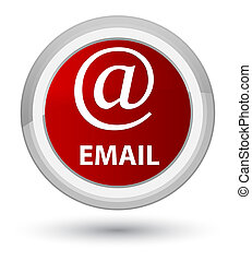 Email (address icon) prime red round button