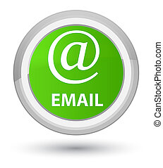Email (address icon) prime soft green round button