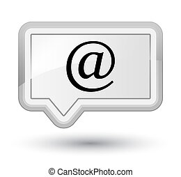 Email address icon prime white banner button