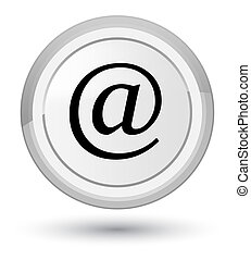 Email address icon prime white round button
