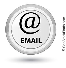 Email (address icon) prime white round button