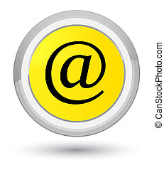 Email address icon prime yellow round button