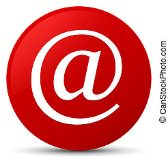 Email address icon red round button