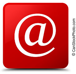 Email address icon red square button