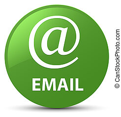 Email (address icon) soft green round button