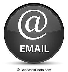 Email (address icon) special black round button