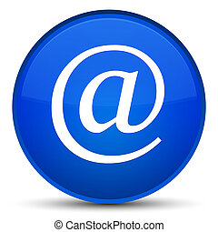 Email address icon special blue round button