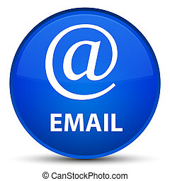 Email (address icon) special blue round button