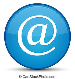 Email address icon special cyan blue round button