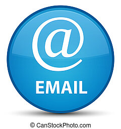 Email (address icon) special cyan blue round button