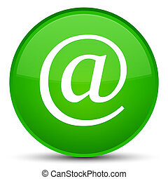 Email address icon special green round button