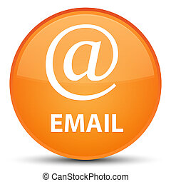 Email (address icon) special orange round button