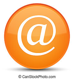 Email address icon special orange round button