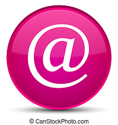 Email address icon special pink round button