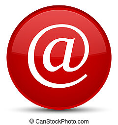 Email address icon special red round button