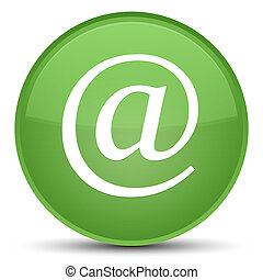 Email address icon special soft green round button