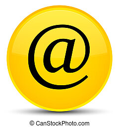 Email address icon special yellow round button