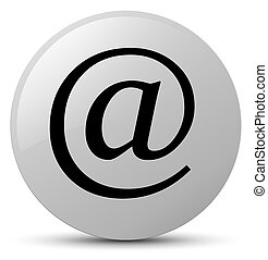 Email address icon white round button