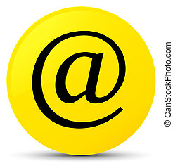Email address icon yellow round button