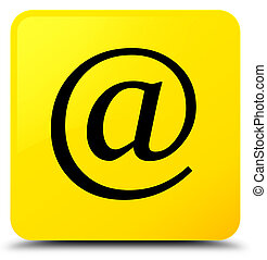 Email address icon yellow square button