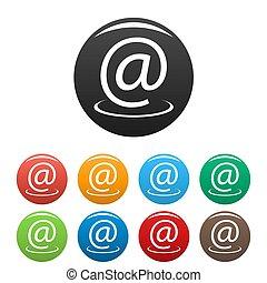 Email address icons set