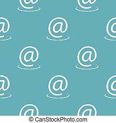 Email address pattern seamless blue