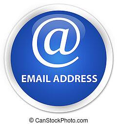 Email address premium blue round button