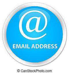 Email address premium cyan blue round button