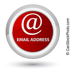 Email address prime red round button