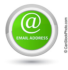 Email address prime soft green round button