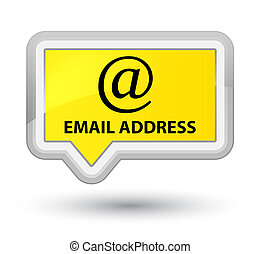 Email address prime yellow banner button