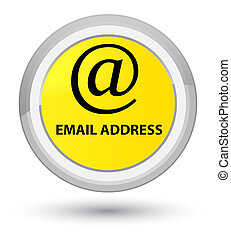 Email address prime yellow round button
