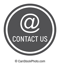 Email address solid icon, contact us and website button,...