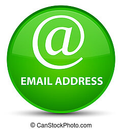 Email address special green round button