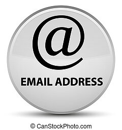 Email address special white round button