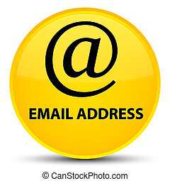 Email address special yellow round button