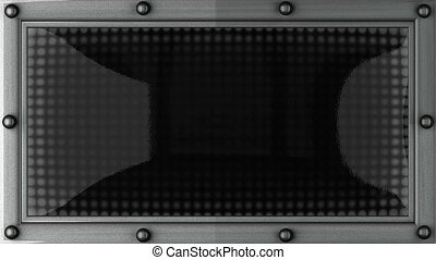 email announcement on the LED display