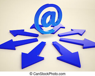 Email Arrows Shows Post Correspondence Through Web