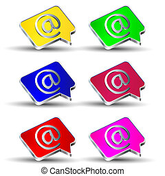Email At icons set