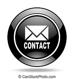 email black glossy icon