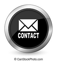 email black icon contact sign