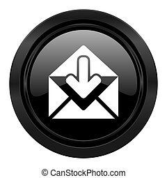 email black icon post message sign