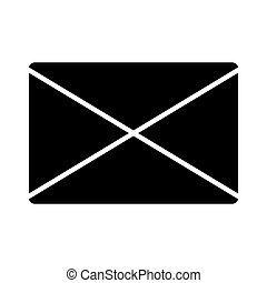 Email black isolated icon over white background.